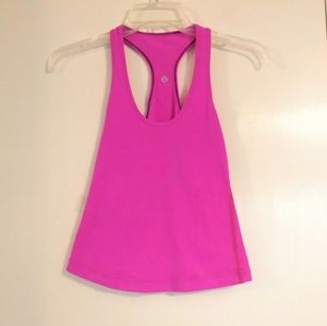 Lululemon Hot Pink Racerback Athletic Tank Top